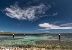 Fornells Harbor (Markus Trienke) Tags: blue sea sky haven water clouds canon landscape eos coast harbor spring meer wasser heaven harbour himmel wolke es ufer landschaft menorca spanien fornells kste 70d balearischeinseln