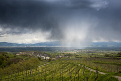 Gewitter ber Kaiserstuhl (Baden Wrttemberg) (https://www.instagram.com/serkanalay/) Tags: rain kaiserstuhl weinberge supercell