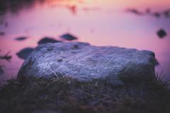 Dreamy Stone by the Sea (Teppo Kotirinta) Tags: sunset sea sun nature rock stone night suomi finland evening spring kivi meri luonto auringonlasku kevt