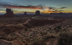 First Light in the Valley (Fred Moore 1947) Tags: arizona sky clouds sunrise landscape us rocks unitedstates desert monumentvalley oljatomonumentvalley