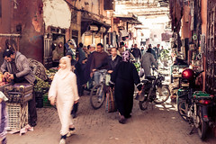 Undisturbed (hermez) Tags: africa street old people motion blur town streetphotography bikes morocco marrakech medina canonef5014usm canoneos5dmk2 marrakech2016