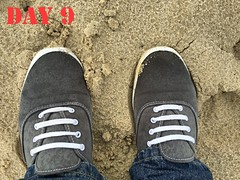 DAY 9 #keds (slo.jean) Tags: new old cloud beach wet rain hole used worn torn 365 trashed keds