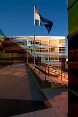 _DSC2238 (durr-architect) Tags: light sun colour reflection netherlands glass architecture modern facade offices almere dfense berkel unstudio