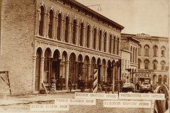 Street Scene, Early Portage Businesses