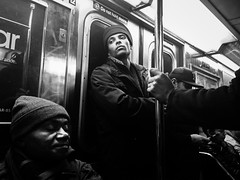 IMG_6546-2 (john fullard) Tags: street city nyc urban newyork train underground subway mono metro candid passengers mta commuters iphone 2015