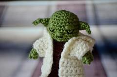 Grand Jedi Master Yoda (Kiwhoo) Tags: starwars doll yoda crochet yarn master jedi amigurumi crocheted puppe meister hkeln hkelpuppe