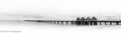Jetty (GR Harris Photography) Tags: travel blackandwhite panorama southwest landscape pano jetty wa westernaustralia busselton longjetty