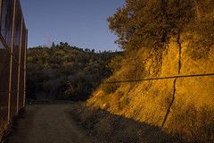Mineral Wells Trail (Alec C Miller) Tags: california longexposure trees light shadow mountain mountains color art nature skyline night digital landscape photography los long exposure glow cityscape angeles hill fine dirt pollution