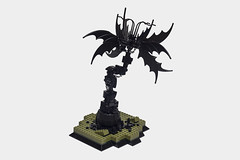 Desolate (_CuriousCat) Tags: fiction sculpture plant flower art dark wings lego alien bat science fantasy fi macabre desolate sci batwings moc foitsop