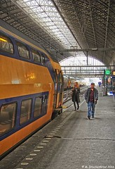 Train Station Amsterdam Centraal (PhotosToArtByMike) Tags: holland netherlands dutch amsterdam train centercity railwaystation passenger centrum amsterdamcentraal centralrailwaystation northholland