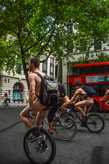 The Unicycle (Le monde d'aujourd'hui) Tags: bus london bike naked nude ride unicycle londonbus redbus 2015 worldnakedbikeride cycing wnbr