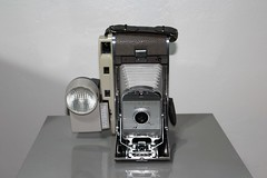Polaroid 800 Instant Land Camera With Wink Light And Light Reducer On Side (Phillip Pessar) Tags: camera light polaroid store with side thrift land and instant wink 800 find on cameraporn reducer