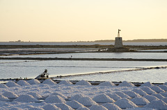 Trapani salt pans (Mark Adamson1) Tags: sunset italy salt sicily trapani pans salterns