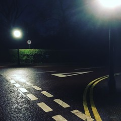 Tranquility (tonyhall) Tags: road morning signs abstract wet lines tarmac night walking dawn traffic walk form symbols markings sounds regentspark