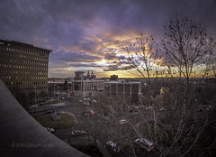 Sunset over Spokane (giberin) Tags: life street city longexposure nightphotography blue trees windows winter light sunset shadow sky orange sun sunlight cold color building tree art texture love window nature water colors beautiful beauty weather mystery skyline architecture night clouds composition canon buildings season landscape outdoors photography lights photo washington energy spokane pretty artist skies cityscape escape seasons nocturnal traffic sundown angle emotion artistic branches wide creative wideangle nightshoot fisheye pacificnorthwest nightlife spiritual coldweather lightroom easternwashington