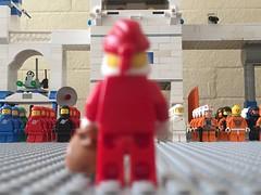 He's here! (redlegorev) Tags: classic saint st lego space nicholas minifig base