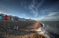 Southend on Sea (nigdawphotography) Tags: sea beach water waves shingle wave seafront essex beachhuts southend