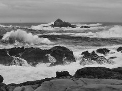 Maelstrom (GeminEye27) Tags: ocean sea blackandwhite pacificocean pointlobos