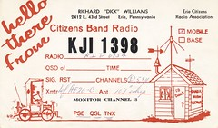 Dick Williams - Erie, Pennsylvania (73sand88s) Tags: car vintage pennsylvania shack form qsl erie cb cbradio