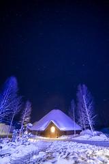 Kota restaurant, Arctic Snowhotel (xipevideo) Tags: blue snow night finland stars astro lapland kota lappi nikond600 samyang14mm astrolandscape