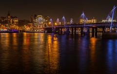Waterloo station (Gul Ah) Tags: reflection london thames night river cityscape jubileebridge waterloostation