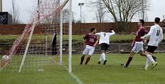 Joel Kasubandi turns away in celebration as the ball nestles in the net (Stevie Doogan) Tags: park west scotland scottish first super juniors division league holm clydebank bole maybole bankies mcbookiecom