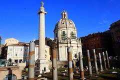 Trajan Forum at dawn, Rome (mattk1979) Tags: italy rome roma building history statue sunrise dawn ruins italia roman outdoor forum column trajan