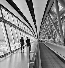 Hello gentlemen  (meldarbordeaux) Tags: uk england blackandwhite london lines architecture square airport noir unitedkingdom symmetry indoors squareformat inside blanc bnw iphoneography instagramapp uploaded:by=instagram foursquare:venue=50c851f8e4b04f4ed2b396c6
