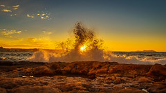 The dance of water (Adilson Cintra) Tags: life sunset sea sky sun nature colors landscape photography spain nikon ibiza eivissa mediterraneansea balearicislands islaspitiusas d5300