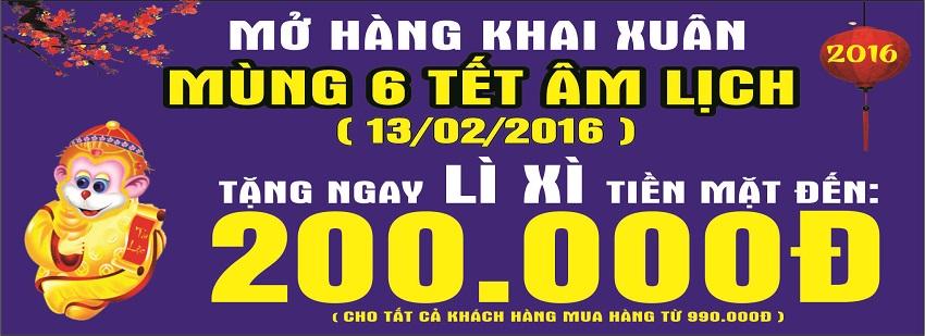 LÌ XÌ TIỀN MẶT ĐẾN 200,000 KHI MUA HÀNG TẠI ECO-MART