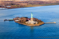 The gift from France (WhitcombeRD) Tags: new york city nyc usa ny newyork statue skyline america liberty manhattan flight aerial helicopter statueofliberty