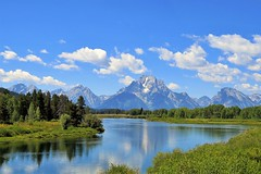 Oxbow Bend (Patricia Henschen) Tags: mountains clouds river snakeriver wyoming grandtetons tetons grandtetonnationalpark oxbowbend