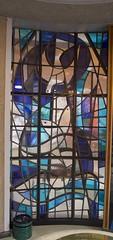 Abstract window in the Baptistry (IanAWood) Tags: urban 1991 stpancras churchwindows londonchurches contemporarystainedglasswindows walkingwithmynikon goddardgibbs lbofcamden nikkorafs28mmf18g nikondf staloysslusromancatholicchurch