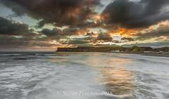 Sunlit Cliffs (Steven Peachey) Tags: uk morning winter light sea england sky seascape beach water clouds sunrise coast seaside exposure waves cliffs northeastcoast northeastengland ef1740mmf4l lee09gnd leefilters redcarandcleveland canon6d slatburn lee06gnd stevenpeachey