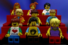 Which movie are they watching? (Lesgo LEGO Foto!) Tags: cinema cute love film movie fun toy toys theater lego theatre movies minifig collectible minifigs omg collectable minifigure minifigures legophotography legography collectibleminifigures collectableminifigure coolminifig