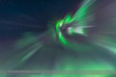 Superb Aurora of March 14, 2016 #4 (Amazing Sky Photography) Tags: purple aurora curtains northernlights borealis zenith bigdipper level5 converging churchillnorthernstudiescentre