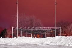 In the cold, cold night. (francois ollivier) Tags: pink winter portrait snow canada cold ice hockey architecture night self landscape nhl lowlight quebec montreal polar icy nuit selfie francoisollivier