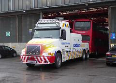 CEDARS ASSIST 7 - CA03TOW - NSF - BX BEXLEYHEATH BUS GARAGE - MON 22ND FEB 2016 (Bexleybus) Tags: bus london ahead truck wagon volvo kent garage go 7 assist tow recovery cedars bexleyheath 460 bx goahead nh12 ca03tow