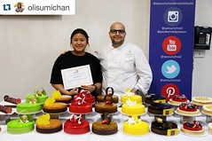 #Repost @olisumichan with @repostapp. ・・・ What an honor to be able to learn from one of the world's best pastry chef! So knowledgeable & so skillful and always pushing the students to learn more and more 😍😍. So much cakesssss, so muc