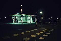 P1030864vf (hans fotografeert) Tags: city blue light 3 holland green dutch station amsterdam architecture night lumix crossing nightshot serious euro south under gas panasonic petrol dmc compact becon 148 tinq kennedylaan lx3 designde