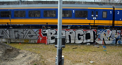 graffiti amsterdam (wojofoto) Tags: holland amsterdam graffiti bongo nederland railway netherland spoor trackside spoorweg wolfgangjosten wojofoto