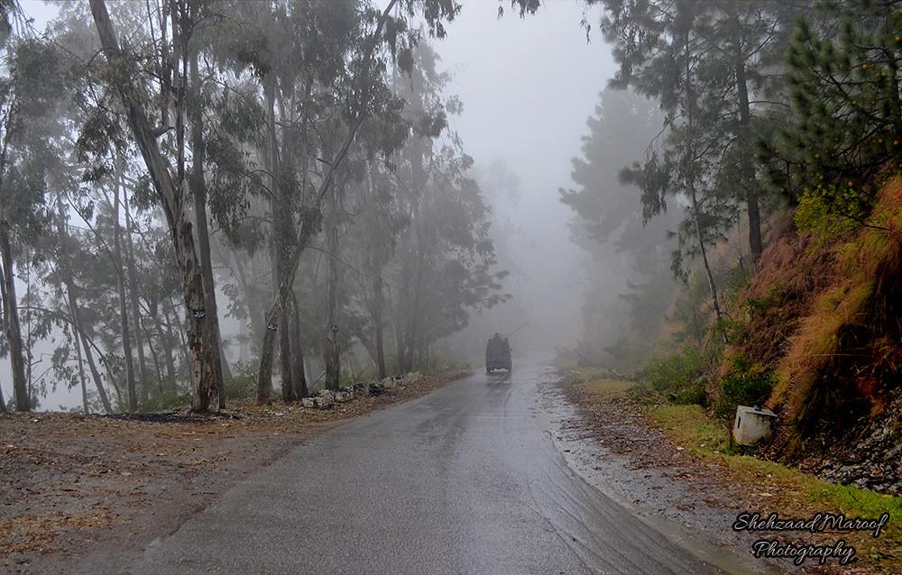 Shimla Hill Abbottabad Shehzaad Maroof Khan Tags Road Pakistan Nature Rain Fog