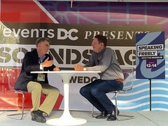 Jeffrey Herbst, Newseum president and ceo, interviews Marty Baron, Washington Post editor.