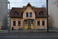 Apotheke. (Florian Hardwig) Tags: berlin golden pharmacy mounted lettering weisensee berlinerallee closingperiod