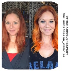 """#tangerine dreams by #number9salon #stylist @thehaircolorexpert . #hair #color #haircolor #dtsp #stpete #florida #style • <a style=""""font-size:0.8em;"""" href=""""http://www.flickr.com/photos/41394475@N04/25674727785/"""" target=""""_blank"""">View on Flickr</a>"""