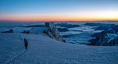 Vallot Hut (David Ruiz Luna) Tags: montblancjul14 vallothut ascension sunrise goûterrefuge montblanc frenchroutetomontblanc refuge montblancmassif saintgervaislesbains breakofday summit hill peak hautesavoiedepartment france altasaboya ródanoalpes francia mountaineers hikers people amanecer madrugada ascensión gente cuatromiles alpes alps europe sport deporte touraroundtheworld mountains montañas adventure aventura goal reto meta chamonixmontblanc sunriseandsunset snow nieve alpinism alpinismo experience adrenaline landscapes experiencia adrenalina glacier glaciar altitude altitud mountaineering montañismo trek trekking nature naturaleza ~themagicofcolours~ix