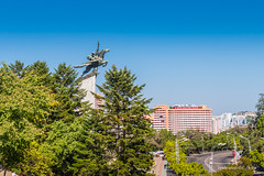 Chollima Statue (reubenteo) Tags: city democracy scenery war communist communism kimjongil socialist metropolis socialism northkorea pyongyang dprk reunification kimilsung kimjongun