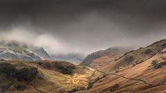 Skyfall (Glenn D Reay) Tags: mountains rain landscape mood moody pentax lakedistrict hills fells lowclouds atmospheric borrowdale k30 pentaxart glennreay