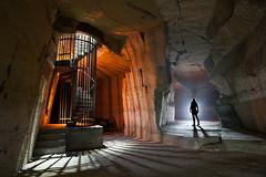 Colimaçon (flallier) Tags: escalier colimaçon carrière souterraine calcaire underground limestone quarry stairway stair hélicoïdal silhouette îledefrance
