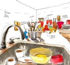 92/366~ 'Kitchen mess' on my new #strathmore #journal #art #urbansketcher #urbansketchers #inspire #ink #brushpen #illustration #kitchen #366 #2016 (j.smita7) Tags: art kitchen illustration ink journal strathmore inspire brushpen 2016 366 urbansketchers urbansketcher